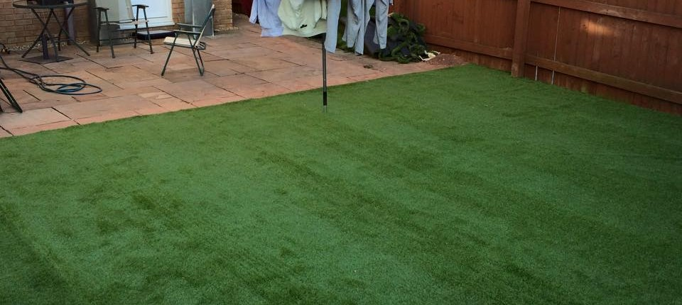 artificial grass fitted by Stores 4 Floors for one of our customers in Cardiff, South Wales 1
