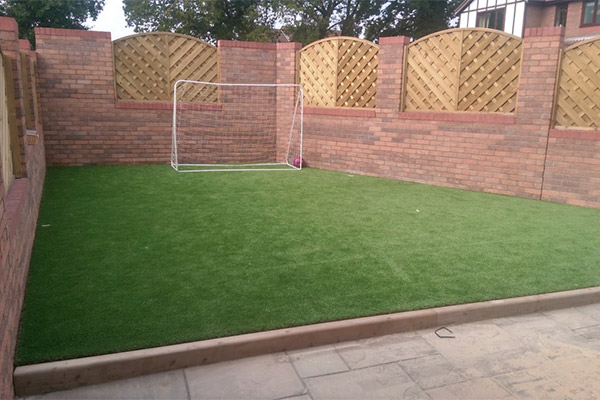 our artificial grass installation at Stores 4 Floors in South Wales