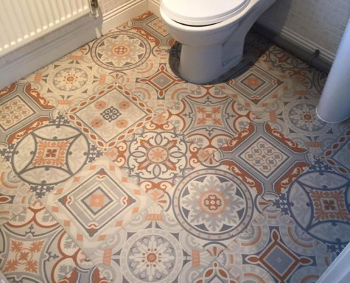 Modern Vinyl Floor Bathroom Kitchens South Wales